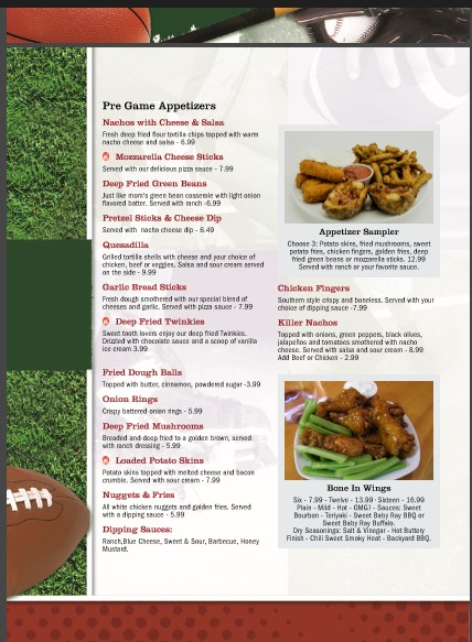 1710 Bowling Center > About > Food & Drink > Splitters Bar & Grill Menu